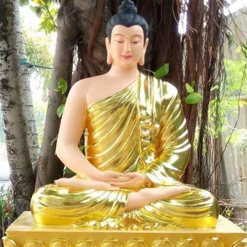 Mẫu tượng Bổn Sư Thích Ca dát vàng đẹp
