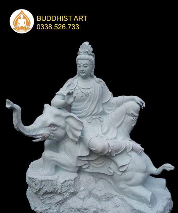 Tượng Phổ Hiền Bồ Tát composite
