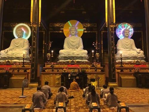 Tam bảo Phật do Buddhist Art tôn tạo tại thiền viện Khánh an 2