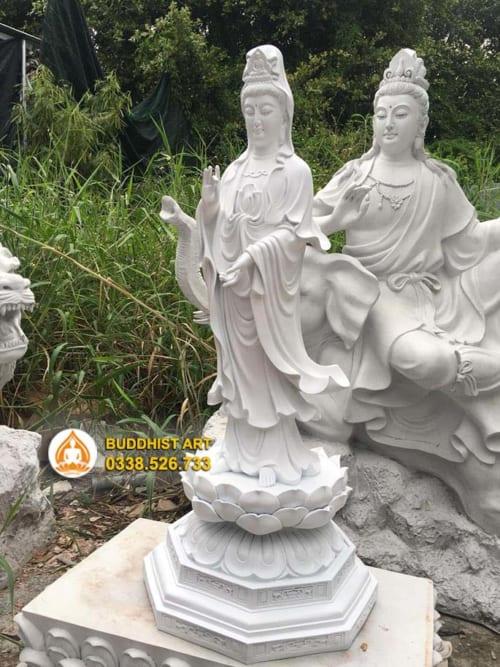 Tượng Phật Quan Thế Âm Bồ Tát dáng đứng 1 mét