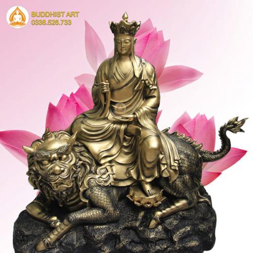 tượng địa tạng vương bồ tát bằng đồng