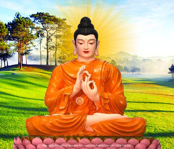 Hình ảnh Phật Thích Ca được thiết kế từ tác phẩm tượng Phật do Buddhist Art điêu khắc