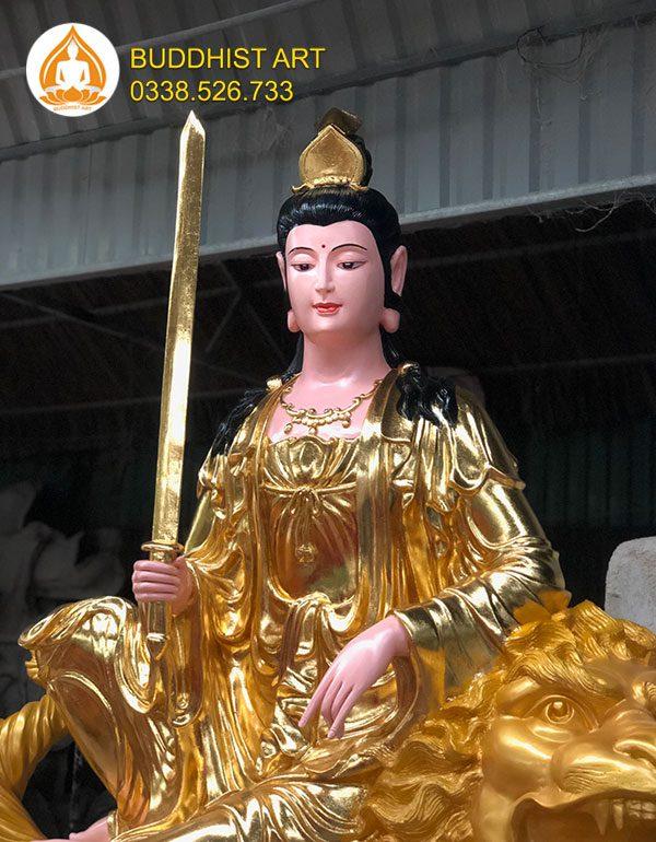 Buddhist Art - địa chỉ điêu khắc tượng Văn Thù Sư Lợi Bồ Tát đẹp uy tín HCM