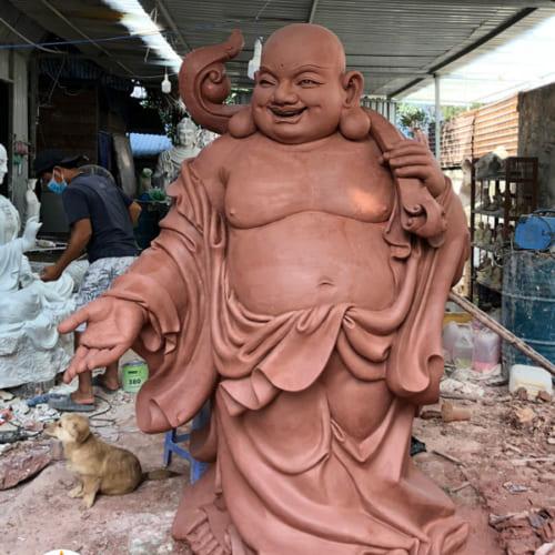 Tượng Phật Di Lặc bằng cao 2 mét đồng