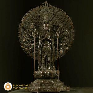 Tượng Phật Quan Âm Thiên Thủ Thiên Nhãn bằng đồng