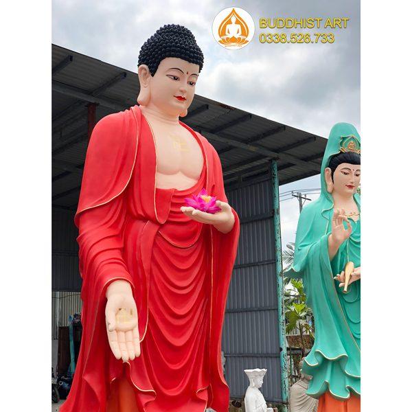 Tượng Phật A Di Đà bằng composite 320 cm đẹp