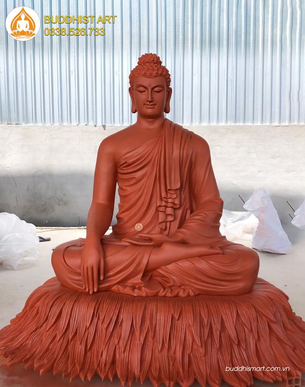 Tượng Bổn Sư Ấn Địa Xúc bằng bột đá